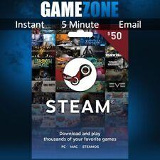 $50 Steam USD US Dollar Prepaid Steam Wallet Game Card Code - USA