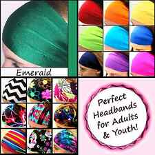 School Colors Headbands for Youth Teams Sports Dance Group Squad Cheer [Emerald]