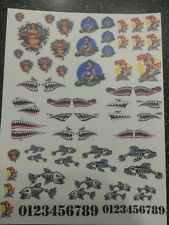 Pinups/Shark!!! CLEAR WATER-SLIDE DECALS FOR HOT WHEELS  1:64 scale made in USA!
