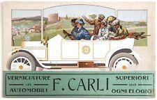 CARLI VERNICIATURA AUTOMOBILI ROMA cartolina Pubblicitaria Auto