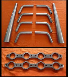 Chevrolet LS1-7 Exhaust Lake Header kit, lakster, u-weld, hot  rat rod, Chevy