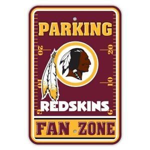 "WASHINGTON REDSKINS NFL 12"" X 18"" FAN PARKING SIGN WALL DECOR FREE SHIPPING"