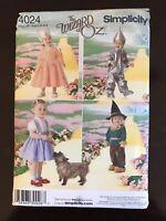 Simplicity 4024 Costume Toddler Wizard of Oz Dorthy Tin Man NEW UNCUT sz A 1/2-4