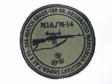 M14/ M1A embroidery patch/ SWAT/ SNIPER/ MILITARY/.308/ MATCH/ NEW/ 3.25""