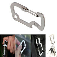 EDC Carabiner Survival Camping Hiking Rescue Gear Keychain Bottle Opener Tool