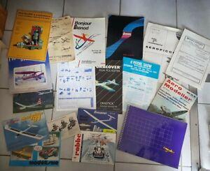 Gros Lot Modelisme Avion Maquette Plan Catalogue ancien à voir !