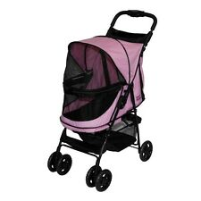 Pet Gear Happy Trails No-Zip Stroller, Pink Diamond PG8100NZPD STROLLER NEW