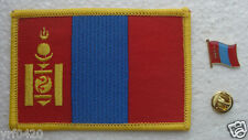 Mongolia National Flag Pin and Patch Embroidery