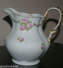 "FRANCE DEPOSE LIMOGES C. AHRENFELDT DAVIS COLLAMORE NY FLORAL PITCHER 6 3/4""T"