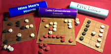 Three Roman Board Games:  Ludus Latrunculorum, Five Lines, Nine Mens Morris