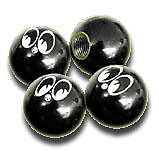 MOONEYES TIRE VALVE CAPS IN BLACK RAT HOT ROD GASSER DUNE BUGGY 4pc