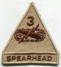 US Army 3rd Armored Division Spearhead DCU Desert Tan Patch
