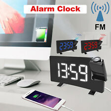 Alarm Clock Led Wall/Ceiling Projection Lcd Digital Radio Best Quality & Price