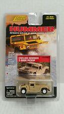 Rare Johnny Lightning Hummer Civilian 2-Door Pickup Tan White Lightning Chase
