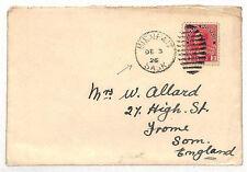VV151 1926 Canada *Bienfait Sask* Duplex Cover Frome Som {samwells-covers}