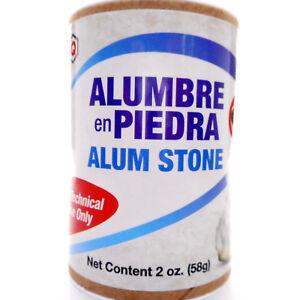 Alum Stone Powder Crystals Alumbre en Piedra y Polvo