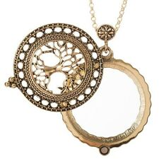 Lupe Halskette Lebensbaum Baum des Lebens Antik Bronze Medaillon Medallion Gold