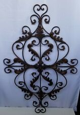 Metal Wall Art Decor Country Scroll Home Living Room Decoration Large Sculpture