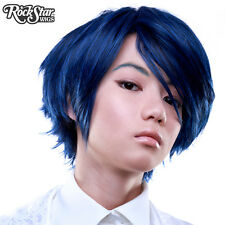 Cosplay Wigs USA™ Boy Cut Short -Blue Black