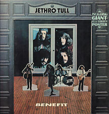 JETHRO TULL - BENEFIT (1970 PINK LABEL VINYL LP GERMANY/POSTER IS MISSING)
