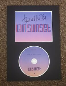 Paul Weller 'On Sunset', hand signed mounted art card and deluxe cd.