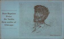 Black Americana - Jean Baptiste Point De'Saible First Settler of Chicago IL PC