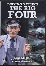 Clive Groome Driving & Firing The Big Four (New DVD) Steam Engines Locomotives