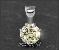 Diamant Brillant Anhänger mit 0,80ct, 585 Gold, 14 Karat Weißgold, Damen, Neu