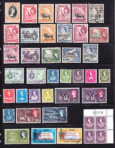 Kenya, Uganda & Tanganyika  QE2 page   L6161