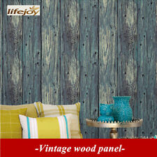 French Provincial Rustic Timber Plank Wood Panel Effect Wallpaper