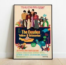 More details for the beatles print, yellow submarine poster, beatles poster, vintage movie print