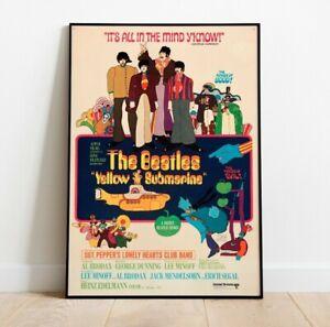 The Beatles Print, Yellow Submarine Poster, Beatles Poster, Vintage Movie Print