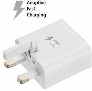 Samsung Fast Adaptive Mains Wall Charger Plug Fast Charging USB Data S7 Edge ETC