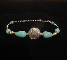 Anklet Boho Silver Hippie Ethnic Bohemian Tribal Gypsy Bracelet Folk B1001
