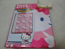 New Hello Kitty Fabric Shower Curtain 72x72 - Hello Kitty in A Circle NIP