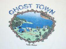 Vintage Ghost Town Fayette Michigan Tourist Soft Thin 80's 1987 T Shirt L