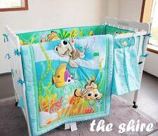 Baby Bedding Crib Cot Quilt Sheet Set 8pcs Quilt Bumper Sheet Dust Ruffle..