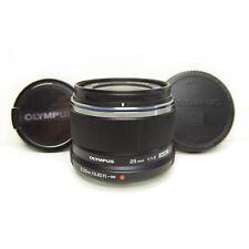 MINT Olympus M.Zuiko 25mm f/1.8 AF Micro 4/3 Lens - Black (V311060BU000)