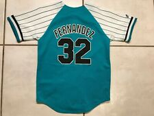 Rare Vintage MAJESTIC Florida Marlins Alex Fernandez MLB Jersey Youth Medium