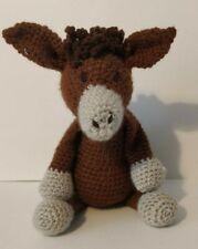 Mathew the Donkey Amigurumi handmade soft crochet animal toy