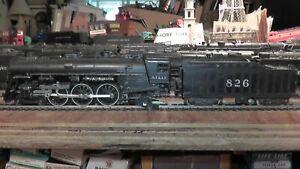 HO Vintage Athearn A.T.&S.F. 4-6-2 #826 Loco Engine & Coal Tender Santa Fe ATSF