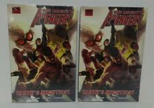 Lot of 2 The Mighty Avengers Earth's Mightiest HC New Sealed Marvel Hardcover