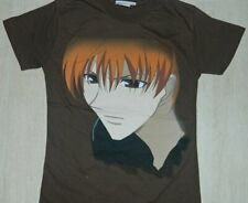 Fruits Basket Anime Kyo Face Baby Doll Juniors Style Brown Shirt, New Unworn