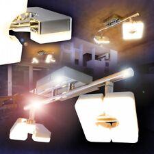 LED Lámpara de techo diseño carril cromo focos ajustable salón dormitorio cocina