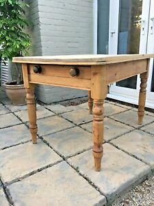 Victorian Antique Pine Farmhouse Scrub Top Dining / kitchen Table