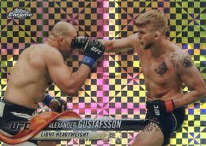 2018 TOPPS UFC CHROME REFRACTOR X-FRACTOR ALEXANDER GUSTAFSSON #81