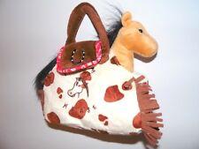 Kinder Tasche mit beigem Plüsch Pferd