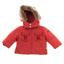 Rrp €305 Peuterey Parka Jacket Size 12-18M Removable Hood & Rabbit Fur Trim