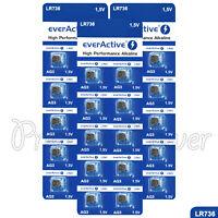 30 x everActive AG3 LR41 Alkaline batteries LR736 192 392 1.5V GREAT VALUE