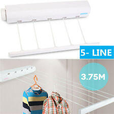 Heavy Duty Retractable 5 Line Hang Drying Rack Wall Mountable Clothes Line  AY